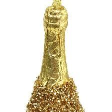 Champagnerflasche Zum Hängen Hellgold 135cm