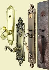 Front door knobs and locks Brushed Nickel Vintage Deco Victorian Entry Door Lock Sets Vintage Hardware Lighting Vintage Hardware Lighting Entry Door Sets Lock Sets