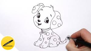 Small Picture How to Draw a Dog Puppy for Kids Cute Drawing of Animals YouTube