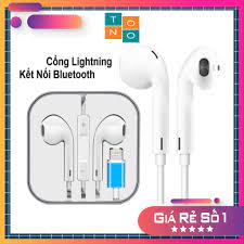 Tai Nghe Bluetooth Có Dây Kèm Mic Cho Apple Iphone 8 7 Plus X Xs Max Xr |  Cổng kết nối Lightning - Dây cáp