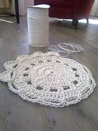 a doily crocheted rug
