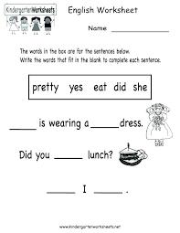 Kindergarten English Worksheets Pdf Kindergarten Pre Kindergarten ...