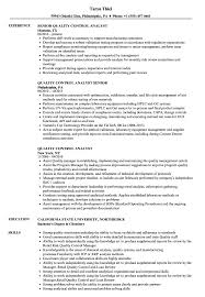 Qc Resume Samples Quality Control Analyst Resume Samples Velvet Jobs