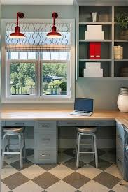 maple butcher block desk top with spin swivel backless barstools contemporary den library