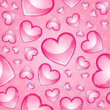 Seamless Pink Background With Glossy Hearts Vector Illustration Of