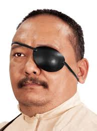 leather eye patch left
