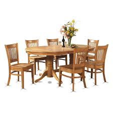 oval dining table set east west furniture vancouver  piece x oval dining table set w  wood c