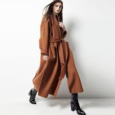2018 new women s modern casual long wool trench coats with belt keep warm in autumn and winter