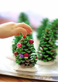21 Holiday Pine Cone Crafts  Ideas For Pinecone Christmas DecorationsPine Cone Christmas Tree Craft Project