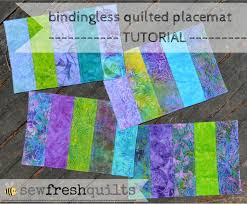 Sew Fresh Quilts: Bindingless Quilted Placemats - A Tutorial &  Adamdwight.com