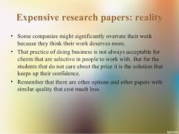 buying research papers cheap vs expensive 5 expensive research papers