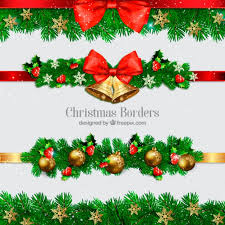 Collection Of Christmas Borders With Balls And Bells Vector