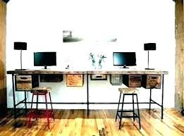 home office with two desks. Home Office Desks For Two 2 Person Corner Desk With