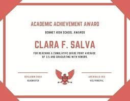 Achievement Awards Templates Achievement Award Template Bigminds Info