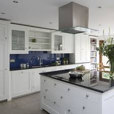 navy kitchen ideas  ideal home