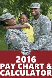 Pay Chart 2016 Military 2016 Pay Chart And Calculator Are Released Military Life