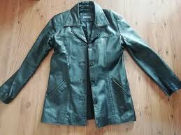 black leather jacket in perfect condition