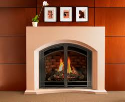 heat glo cerona gas fireplace skillfully molded with seamless cantilevered corners and textured detail