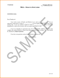 Letter Of Intent To Return Work After Maternityeave Go Back Template
