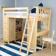 loft bed with shelves. Beautiful Loft KENSINGTON NATURAL  TWIN LOFT BED WITH DESK U0026 STORAGE Inside Loft Bed With Shelves V