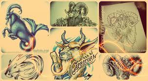 эскизы тату козерог рисунки для татуировки значение и фото