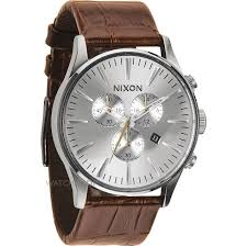 men s nixon the sentry chrono leather chronograph watch a405 1888 mens nixon the sentry chrono leather chronograph watch a405 1888