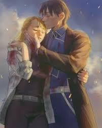anime fullmetal alchemist brotherhood personagens roy mustang e riza hawkeye artist 罗雨时 emglory 羅雨時 this is the sweetest