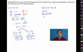 common core algebra i unit 9 lesson 4 solving quadratics by using inverse operations you