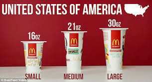 mcdonalds supersize drink.  Drink Portion Control McDonaldu0027s Cup Sizes Are Larger In The US Than Elsewhere   Except For Throughout Mcdonalds Supersize Drink A