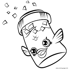 Printable Coloring Pages color pages of fish : SHOPKINS PETKINS Coloring Pages Free Printable