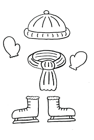 winter coat coloring page making clothes free pages colouring pag