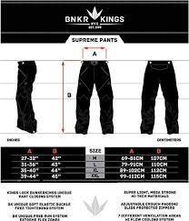 Supreme Pants Size Chart Bunker Kings Supreme Paintball Pants