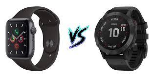 Garmin Watch Comparison Chart 2015 Apple Watch Series 5 Vs Garmin Fenix 6 5krunning Com