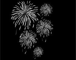 夜空の花火 白黒イラストillustration Fireworks Free Art Jimdo