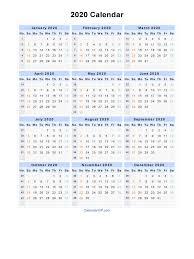 Week Number Calendar 2020 Calendar With Week Numbers Free Printable Calendar