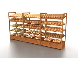 Bakery Display Stands Bakery Retail Display Rack 100d Model Retail Display Stands 4