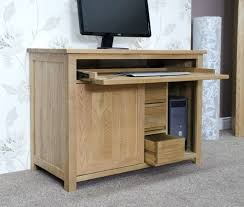 atlas chunky oak hidden home. desk opus solid oak hide away hideaway computer hidden cabinets atlas chunky home