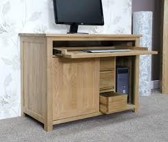 atlas chunky oak hidden home. desk opus solid oak hide away hideaway computer hidden cabinets atlas chunky home