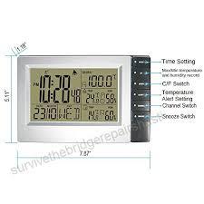 dykie digital wireless weather station with indoor outdoor thermometer hygrometer sauna temperature digital alarm clock
