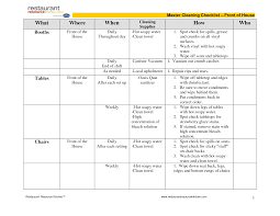 Examples Of Cleaning Schedules Kitchen Cleaning Schedule Template Cleaning Schedule