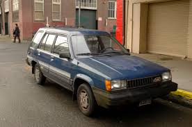OLD PARKED CARS.: 1985 Toyota Tercel SR5 4WD Wagon.