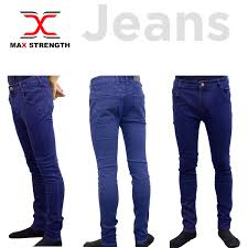 Designer Pants Details About Max Strength Mens Jeans Straight Leg Basic Heavy Work Denim Designer Pants Blue