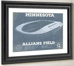 Allianz Field Seating Chart Minnesota United Vintage Allianz Field Mls Soccer Print
