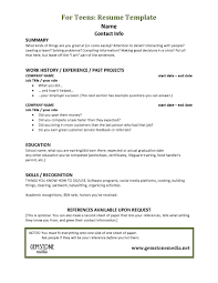 Resume Example For Teenager New Examples Of Teen Resumes Teen Job Hunting Helps Gemstone Media 19