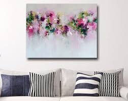 large floral canvas wall art