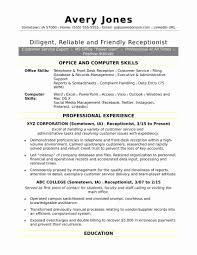 Medical Front Desk Resume New Receptionist Resume Skills Resumes