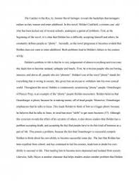 catcher in the rye holdens faliure in the journey of life essay zoom