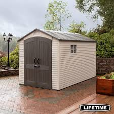 lifetime 7ft x 12ft 2 1 x 3 6m outdoor storage shed with windows
