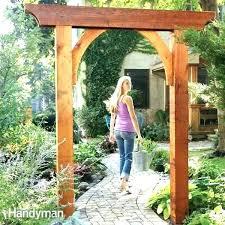 diy garden arbor s diy trellis arbor