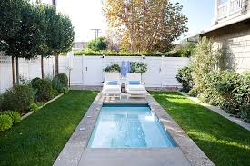 Backyard Pool Designs Landscaping Pools Mesmerizing Outdoors Urban Backyard With Small Pool And Solid Desk Plus White